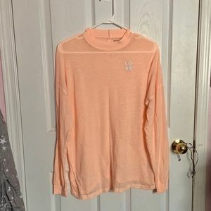 PINK VS orange long sleeve shirt